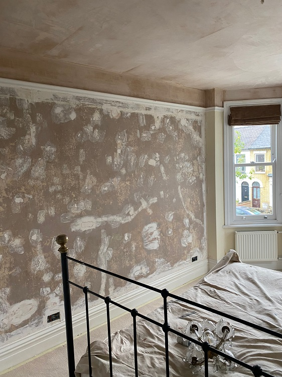 Victorian Bedroom wall prep